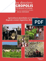 Agricultures Familiales Recherche - Regards croisés Argentine, Bresil, France Dossier Agropolis International