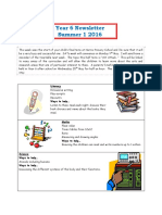 Year 6 Newsletter Summer 1 2016