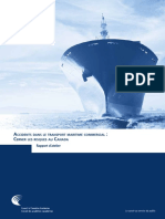 Accidents dans le transport maritime commercial