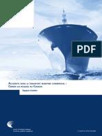 Accidents dans le transport maritime commercial