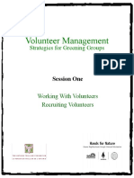 Session 1 - Working with Volunteers and Recruiting Volunteers