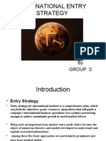 International Entry Strategy Ppt
