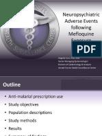 AFHSC Neuropsychiatric Adverse Events Following Mefloquine Exposure slide show