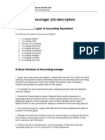 Accounting Manager Job Description