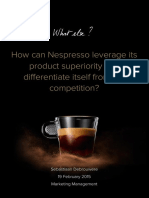 Sebastiaan Debrouwere - Nespresso Marketing Report