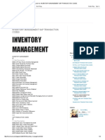 Inventory Management Sap Transaction Codes