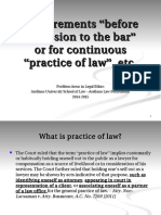 AA 1. Requirements Before Admission to the Bar or Practice of Law (1)