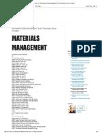 Just Me_ Materials Management Sap Transaction Codes