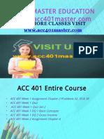 ACC 401 MASTER EDUCATION EXPERT / acc401master.com