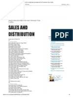 Just Me_ Sales and Distribution Sap Transaction Codes