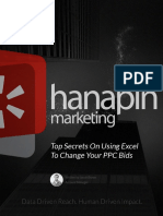 Top Secrets on Using Excel to Change Your PPC Bids - Hanapin Marketing