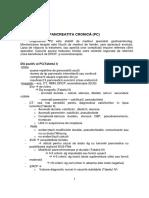 Protocol Diagnostic Tratament Pancreatita Cronica
