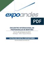 Catálogo Expositores Expo Andes 2013