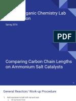 2016 honors organic chemistry lab presentation muir