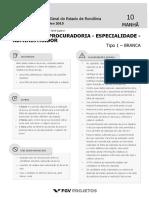 PGE Analista Da Procuradoria - Especialidade - Administrador (AP-ADM) Tipo 1