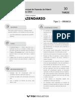 SMFN 2015 Agente Fazendario (AGEFAZ) Tipo 1