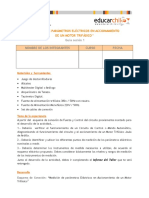 Medicion de Parametros Electricos Nominales en Accionamiento