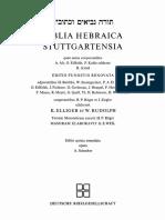 Biblia Hebraica Stuttgartensia - BHS (5th)