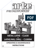 Clarke CL430 - CL500M Manual
