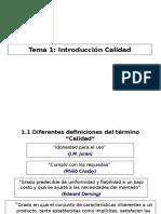 PPT 1 Introduccion Calidad