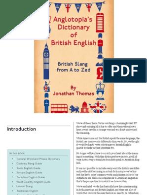 British Slang Dictionary Ibooks iba