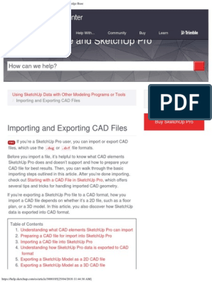 Importing and Exporting CAD Files _ SketchUp Knowledge Base