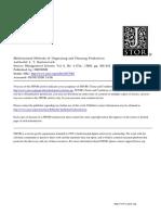 Kantorovich Mathematical Methods Organizing Planning Production 1939