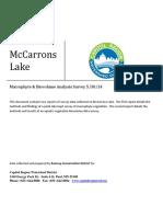 mccarrons lake macrophyte survey spring 2014
