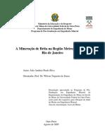 A Mineração de Brita Na Região Metropolitana Do RIO de JANEIRO