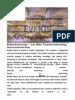 Electronic Bulletin Board