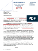 US-Senate TTIP Letter to Froman from 22 April 2016
