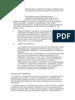 Orientaciones Generales Para La Atención Tutorial Integral en El Marco Del Modelo de Jornada Escolar Completa de La Educación Secundaria