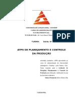 Atps de Planejamento e Controle de Produção