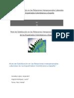 Nivel de Satisfacción en Las Relaciones Interpersonales Laborales de Los Expatriados Colombianos a España