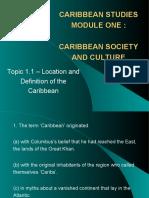 Cape Caribbean Studies Topic 1.1 - Multiple Choice