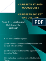 Cape Caribbean Studies Topic 1.1 - Multiple Choice