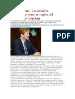 La Pagina - Luis Cardenal - Lo Social Es Importante Pero Las Reglas Del Mercado Se Respetan - 28 04 16