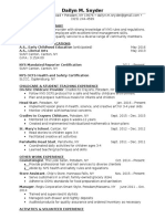 dailyn snyder professional resume
