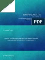 Espondilodiscitis