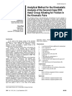 Analytical method for the kinetostatic analysis of the second-class RRR Assur group allowing for friction in the kinematic pairs