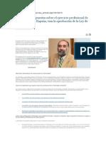Preguntas y Respuestas Sobre Ejercicio Profesional de Psicología en España