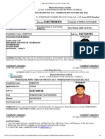 BEL India-2015-Admit Card (PE - Written Test)