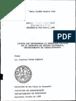 Deserción Ecolar en Chimaltenango