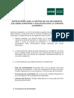 Instrucciones Documentos a Evaluación Ante La Comisión Académica