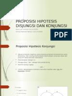 Proposisi Hipotesis Disjungsi Dan Konjungsi