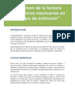 Resumen; Mamíferos en Peligro de Extinción