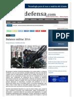 Balance Militar 2016-Noticia Defensa Nacional
