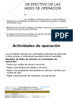 Flujos de Efectivo de Las Actividades de Operacion