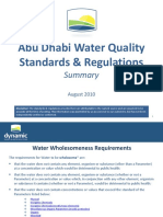 Abu Dhabi Water Quality Standards & Regulations