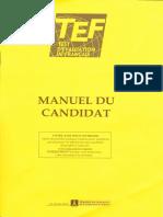 Test d'Evaluation de Francais (TEF) - Manuel Du Candidat (2008)